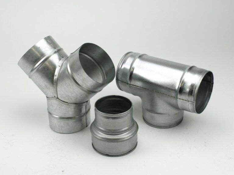 Reduktionen, Verbinder, Dreiwegestücke – Stahl verzinkt STANDARD
